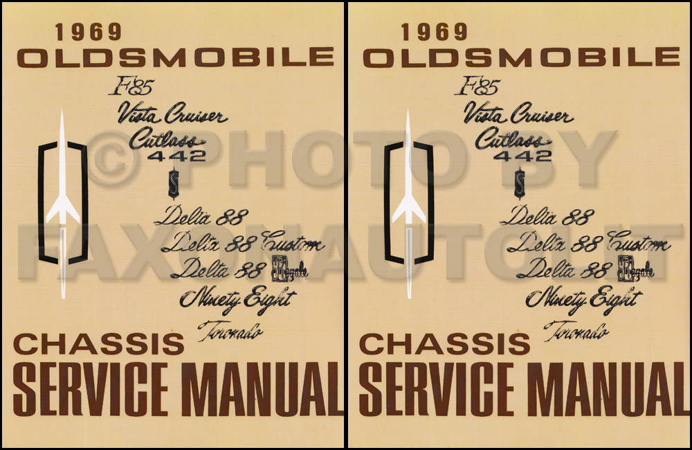 1969 Oldsmobile Shop Manual Original 442/Cutlass/88/98/Toronado