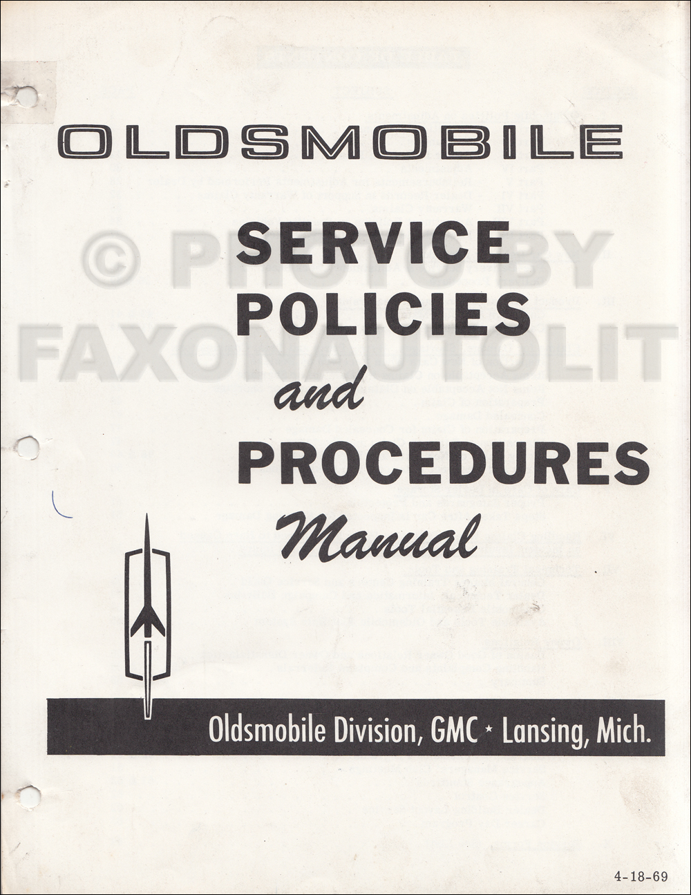 1969 Olds Cutlass F 85 442 Wiring Diagram Manual Reprint 1941 Oldsmobile Service Policies And Procedures Original