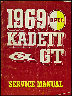 1969 Opel Kadett & GT Repair Manual Original