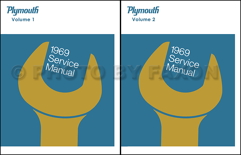 1969 Plymouth Shop Manual Reprint--All Models