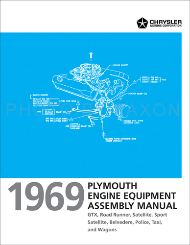 1969 Plymouth Engine Assembly Manual Reprint Satellite GTX Road Runner Belvedere