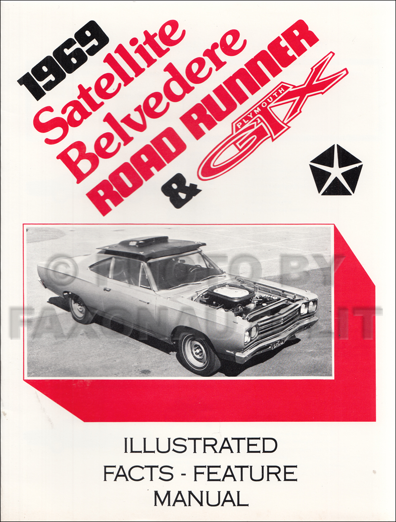 1969 Belvedere Satellite Road Runner And Gtx Wiring Diagram Manual