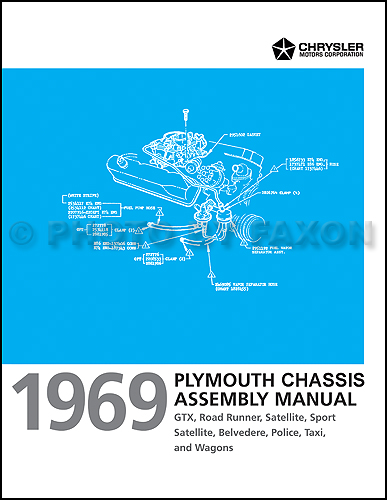1969 Plymouth Chassis Assembly Manual Satellite GTX Road Runner Belvedere