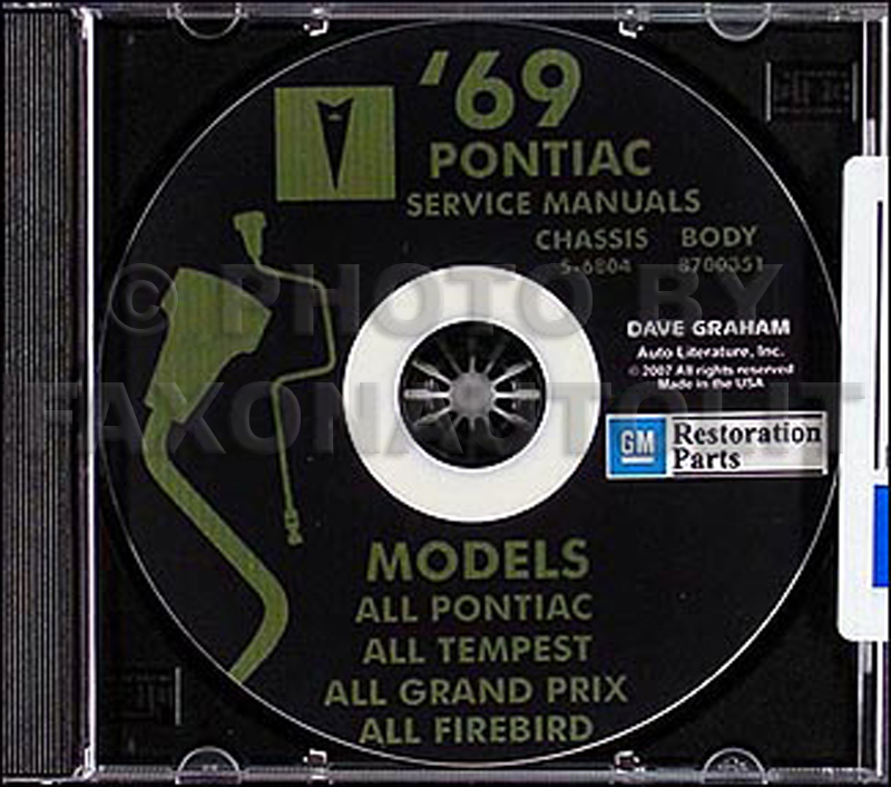 1969 Pontiac CD-ROM Shop & Body Manuals