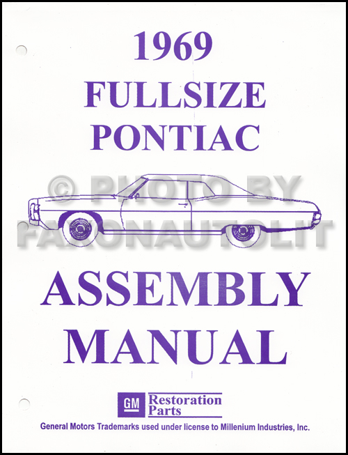1969 Pontiac Assembly Manual Reprint Bonneville Executive Catalina