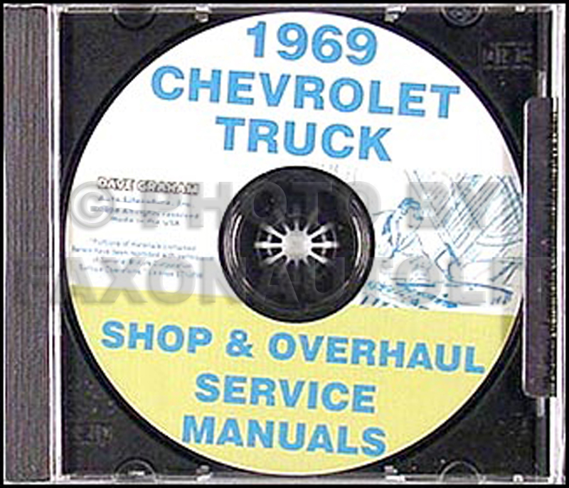 1969 Chevrolet 10-60 Truck Shop Manual on CD-ROM