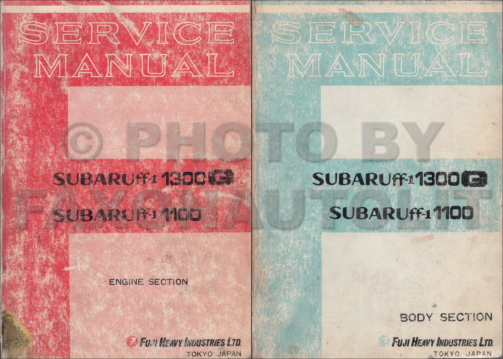 1970-1971 Subaru ff-1 1100 1300G Repair Shop Manual Original Set