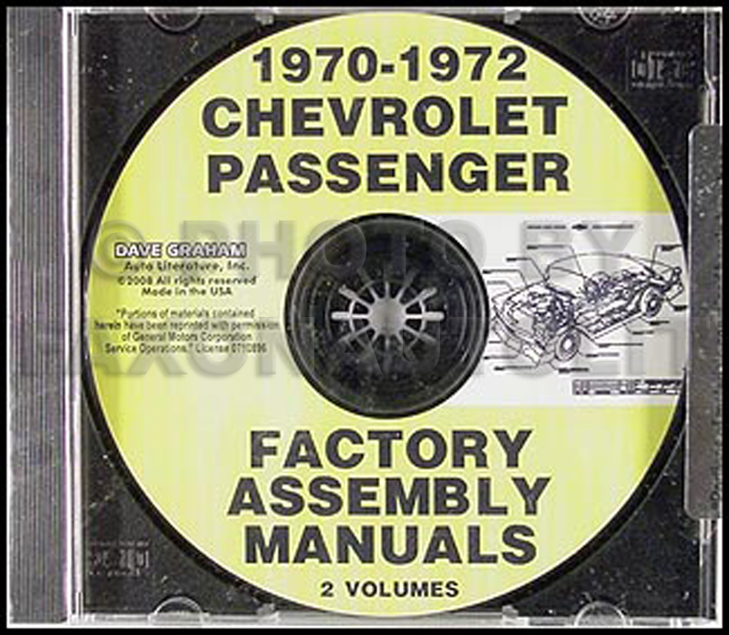 1970-1972 Chevrolet Passenger Car Factory Assembly Manuals CD-ROM