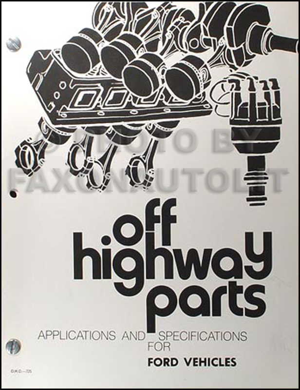 Ford Racing Parts >> 1963 1972 Ford Factory Racing Parts Book And Specs Manual Reprint