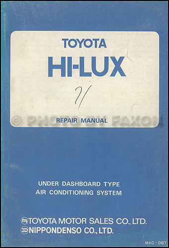 1970-1978 toyota pickup a/c system manual original