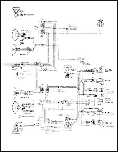 1978 Chevy Malibu and Monte Carlo Foldout Wiring Diagram OriginalFaxon Auto Literature