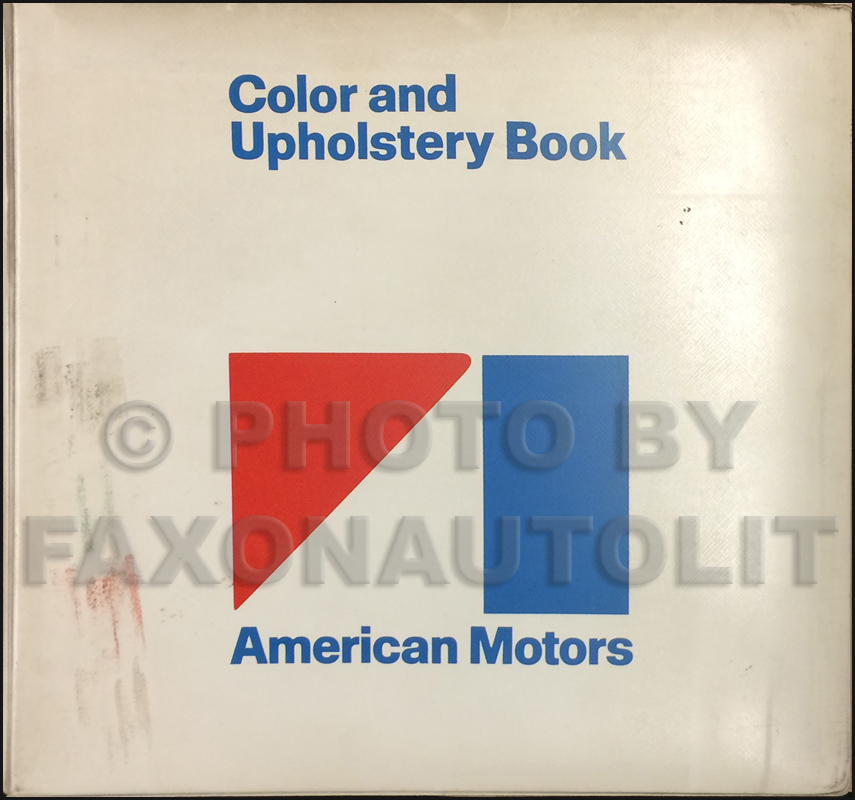 1970 AMC Color & Upholstery Dealer Album Original