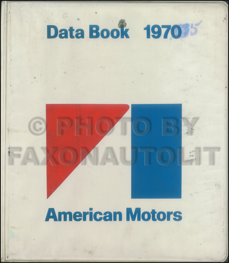 1970 AMC Data Book Original