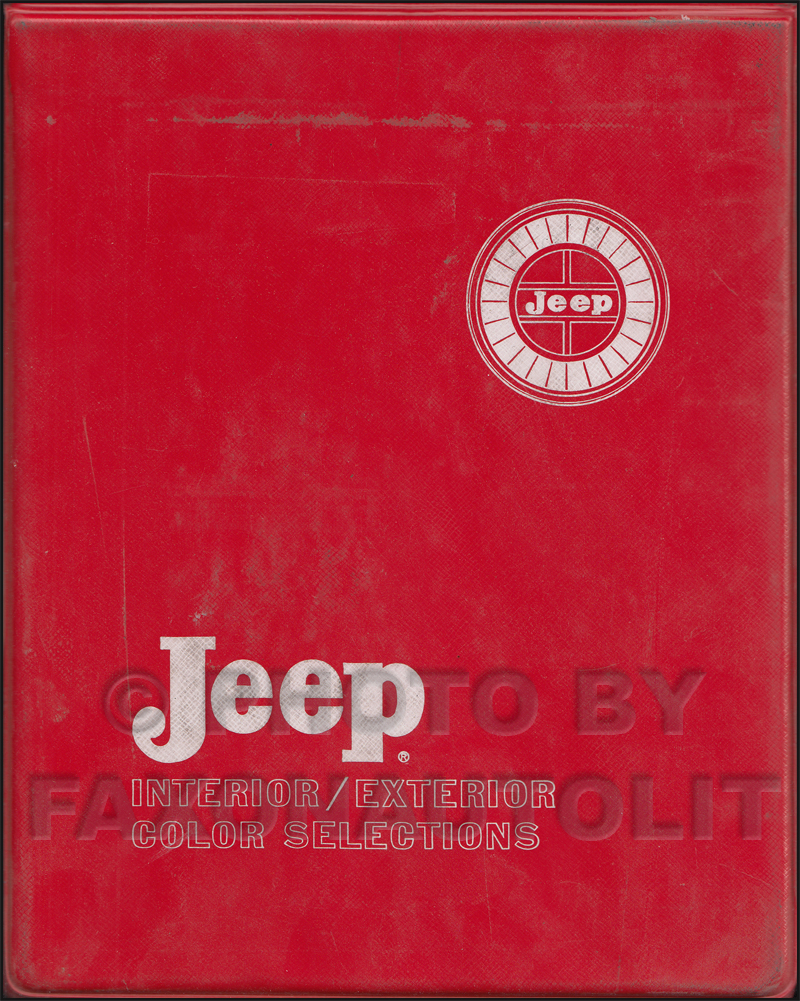 1970 Jeep Color & Upholstery Dealer Album Original