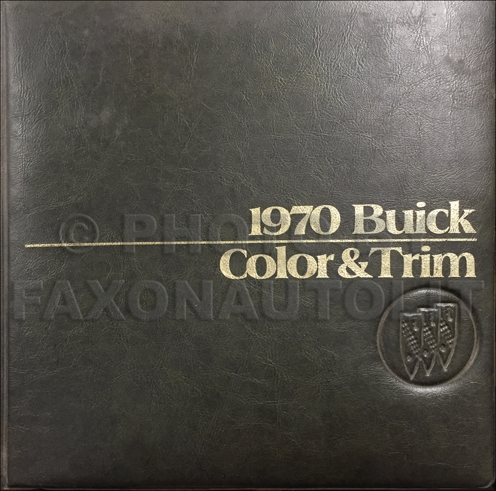 1970 Buick Color & Upholstery Dealer Album Original