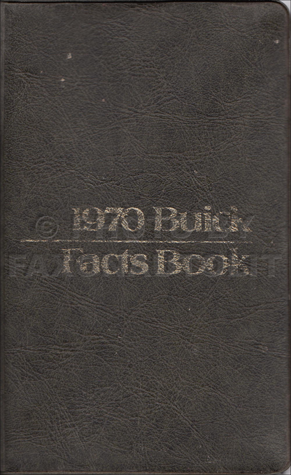 1970 Buick Facts Book Original