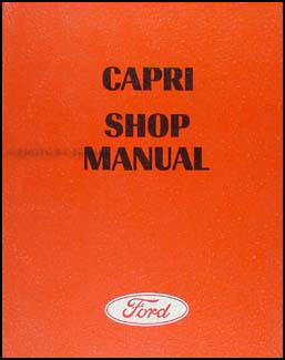 1970 Mercury Capri Repair Manual Original
