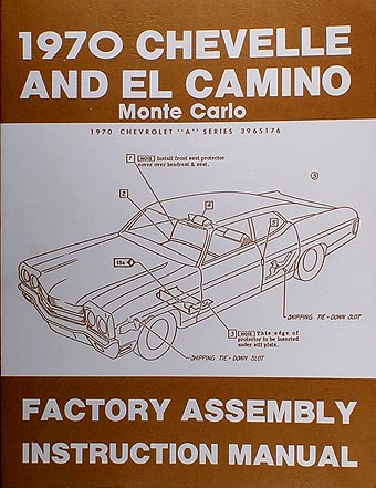 1970 Chevelle Wiring Diagram Manual Reprint Malibu Ss El Camino