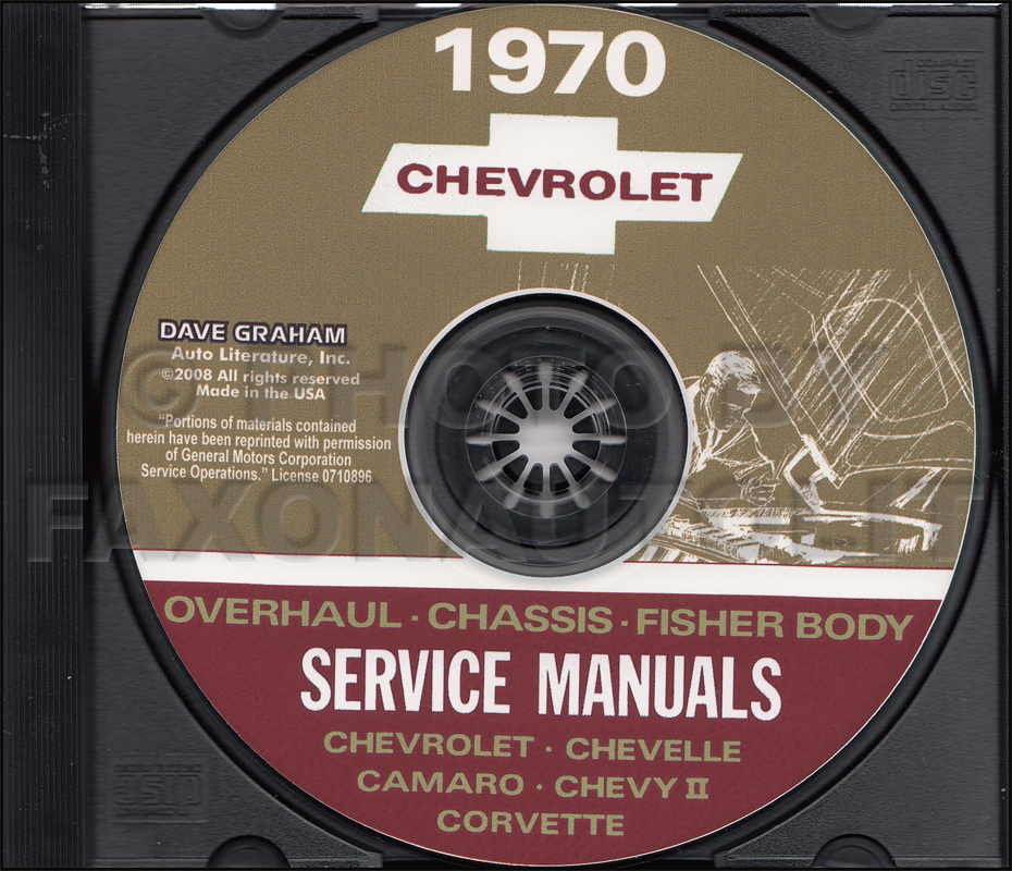1970 Chevy CD Shop, Overhaul, & Body Manual