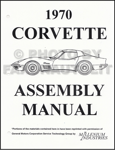 1970 Corvette Factory Assembly Manual Reprint