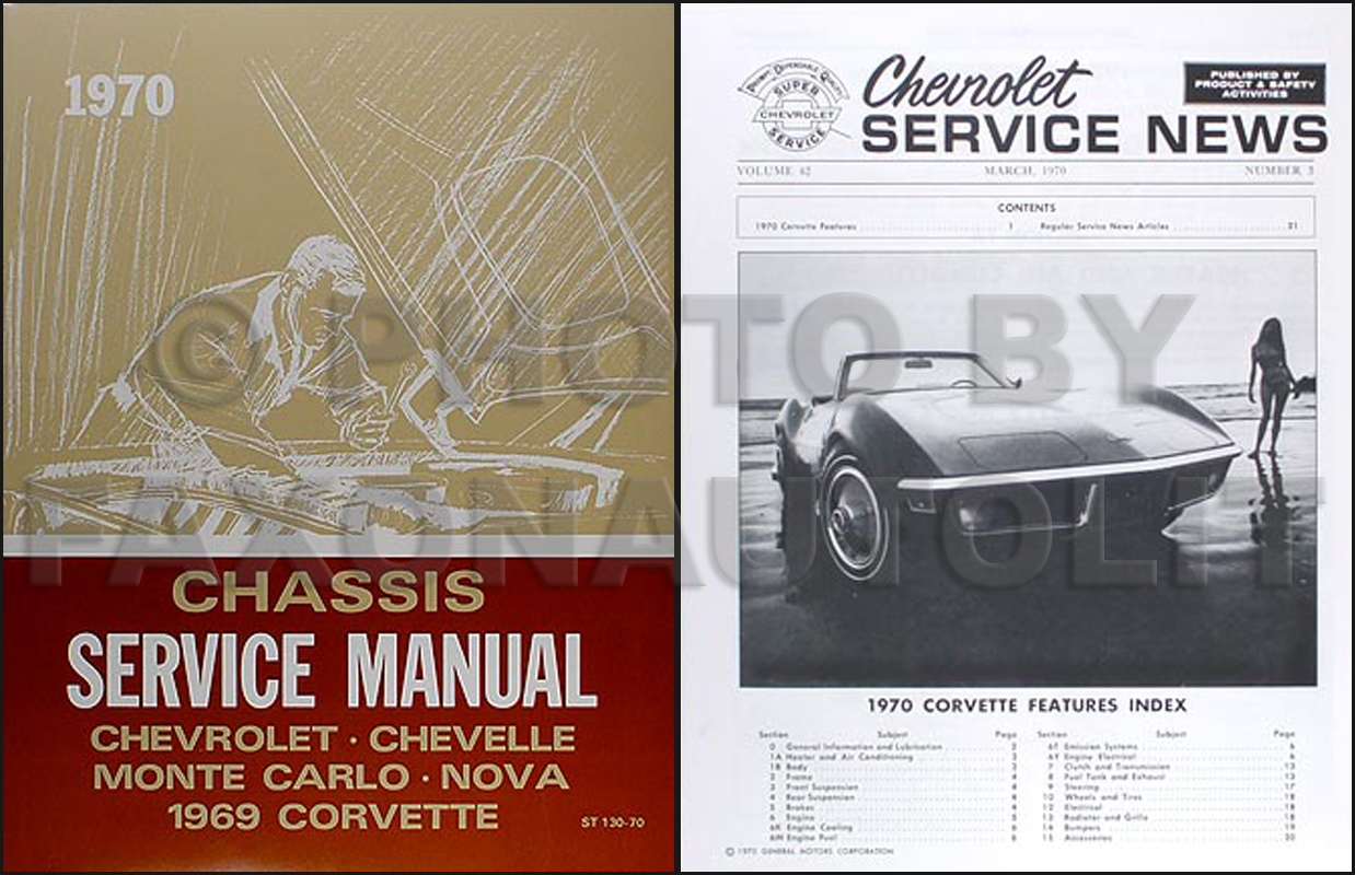 1970 Corvette Shop Manual Reprint Set