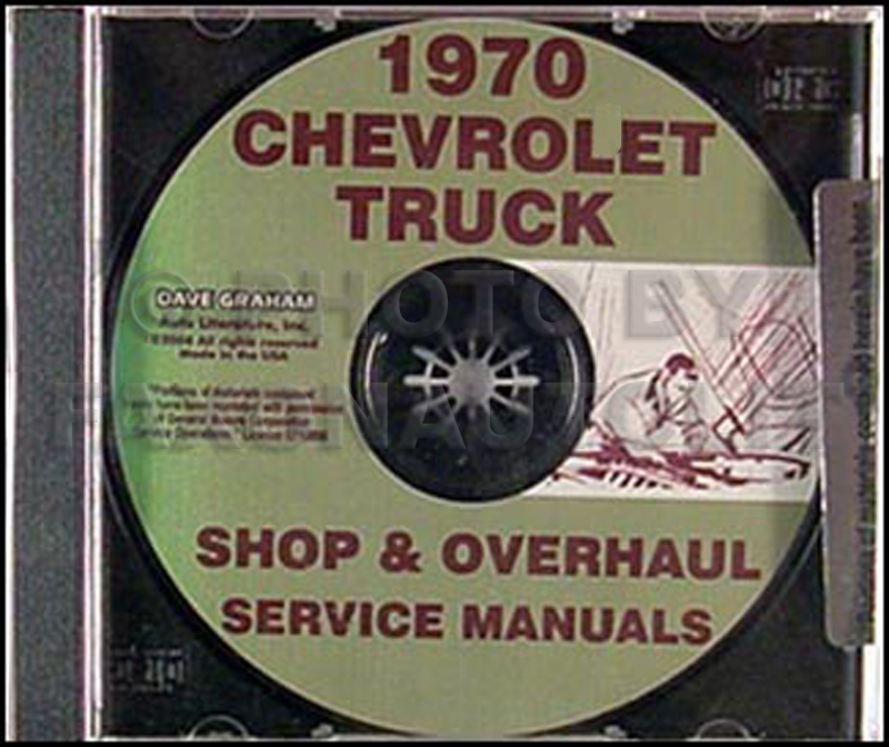 1970 Chevy Pickup & 10-60 Truck CD-ROM Shop Manual & Overhaul Manual