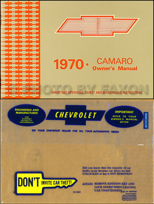 1970 Camaro Wiring Diagram Manual Reprint