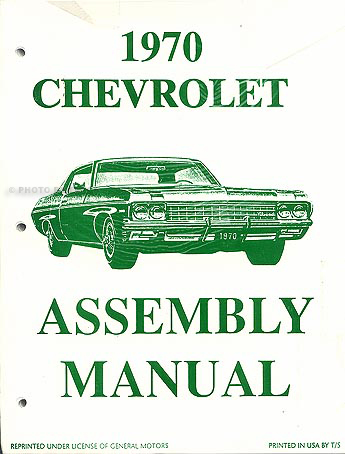 1970 Chevy Assembly Manual Reprint Impala SS Biscayne Caprice Bel Air