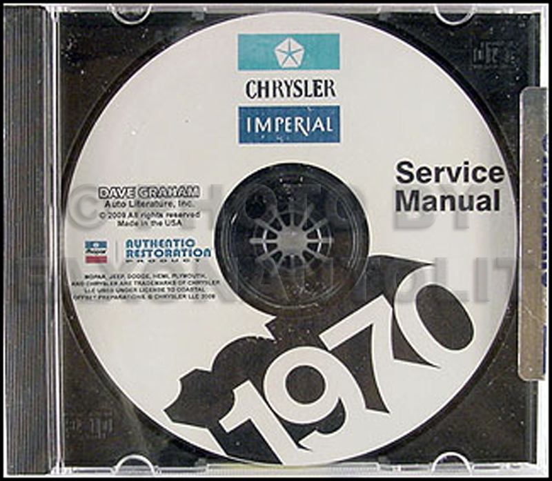 1970 Chrysler Shop Manual on CD for Imperial Newport 300 New Yorker