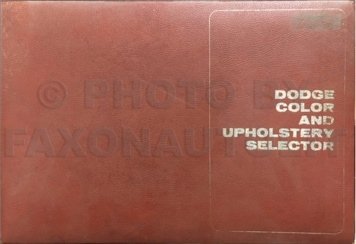 1970 Dodge Color & Upholstery Dealer Album Original
