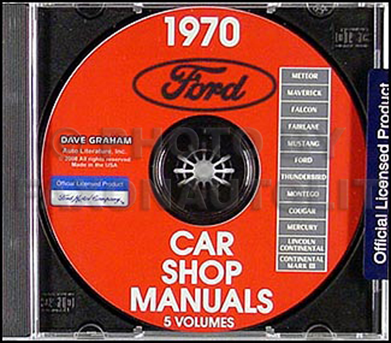 1970 Ford, Lincoln, Mercury Shop Manuals on CD-ROM