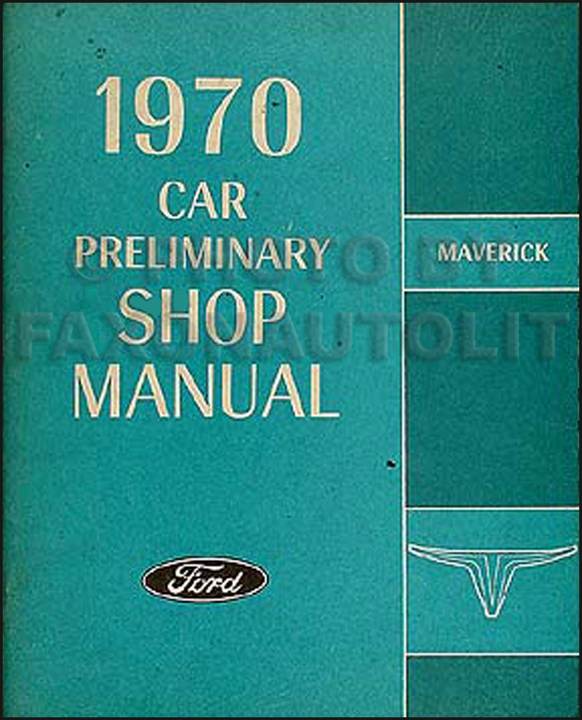 1970 Ford Maverick Factory Foldout Wiring Diagram Original