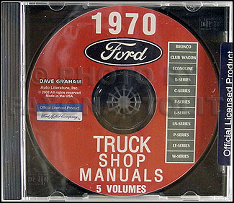 1970 Ford Truck Repair Shop Manual CD ROM Pickup Bronco Van and big trucks