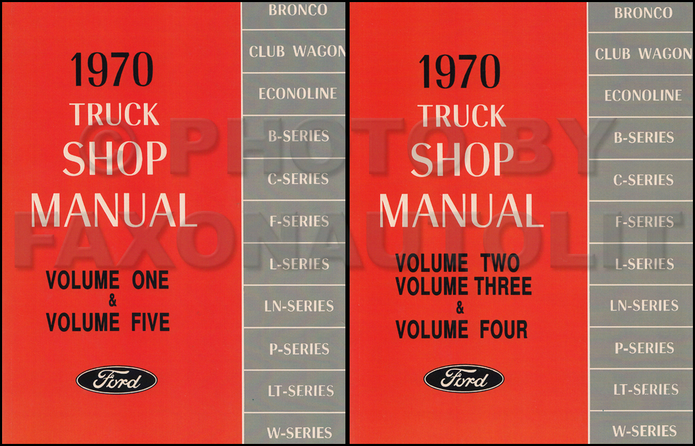 1970 Ford Truck Repair Manual 5 Volume Set Original