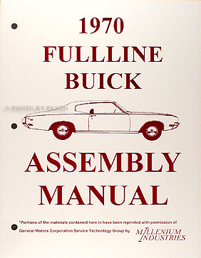 1970 Buick Reprint Factory Assembly Manual all models