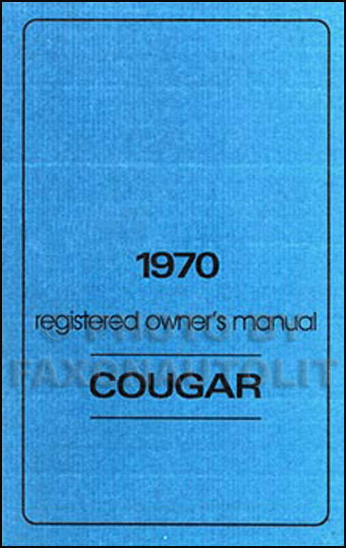 mercury cougar owners manual
