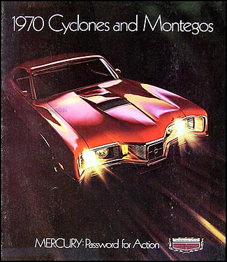 1970 Mercury Cyclone & Montego Sales Catalog Original
