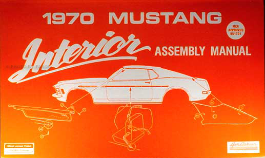 1970 Ford Mustang Reprint Body Assembly Manual