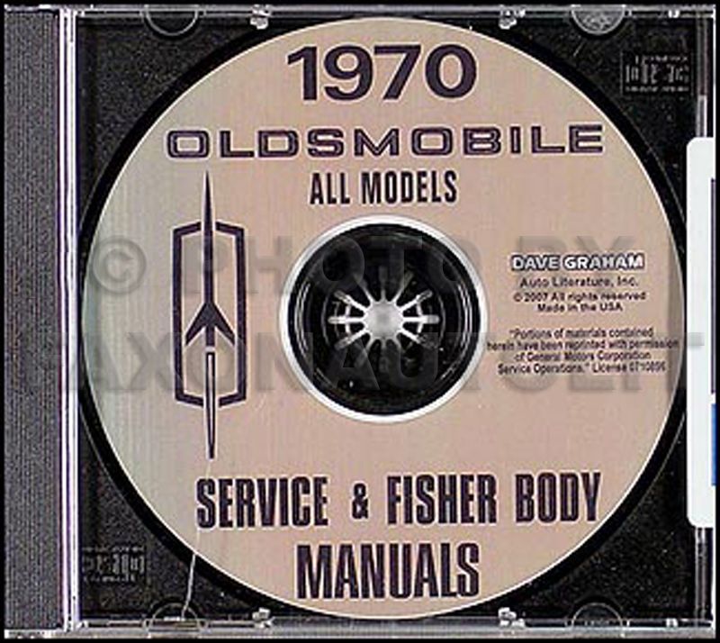 1970 Oldsmobile CD-ROM Shop Manual & Body Manual
