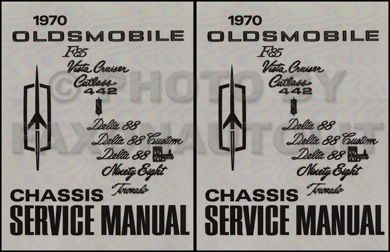 1970 Oldsmobile Shop Manual Reprint 442/Cutlass/88/98/Toronado