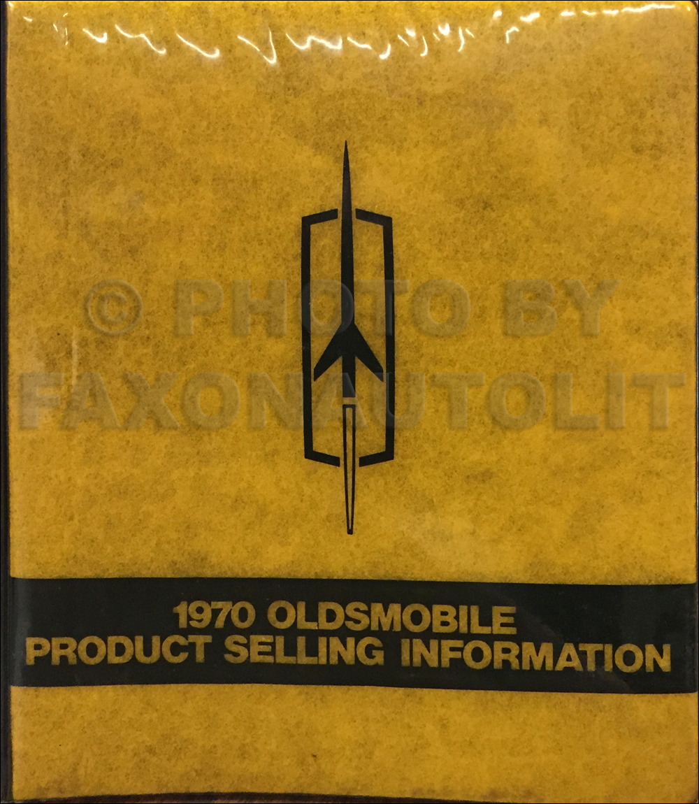 1970 Oldsmobile Data Book Original $299.00
