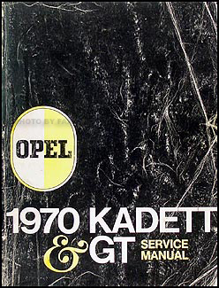 1970 Opel Kadett & GT Repair Manual Original