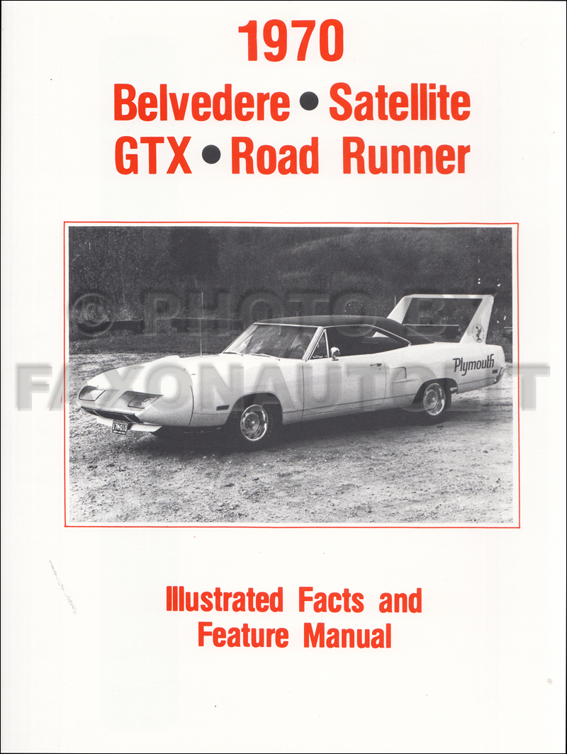 1970 Belvedere Satellite Road Runner And Gtx Wiring