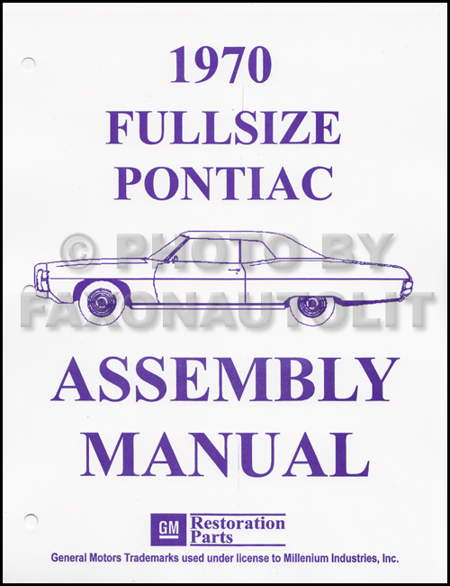 1970 Pontiac Assembly Manual Reprint Bonneville Catalina Executive