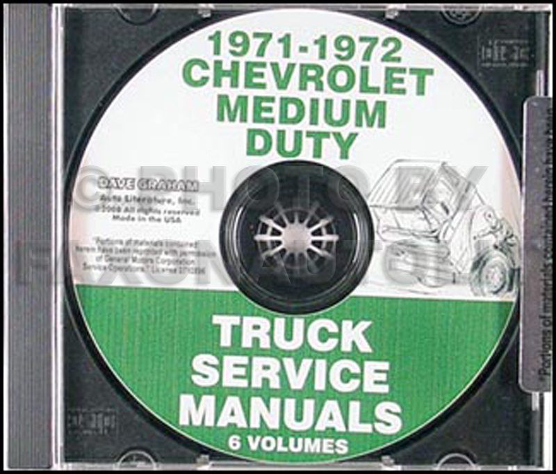 CD 1971-1972 Chevrolet 40-60 Medium Truck Service Manual