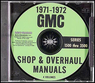 1971-1972 GMC 1500-3500 Shop Manuals on CD Pickup Jimmy Suburban