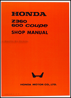 1971-1972 Honda Z360 600 Coupe Repair Manual Original