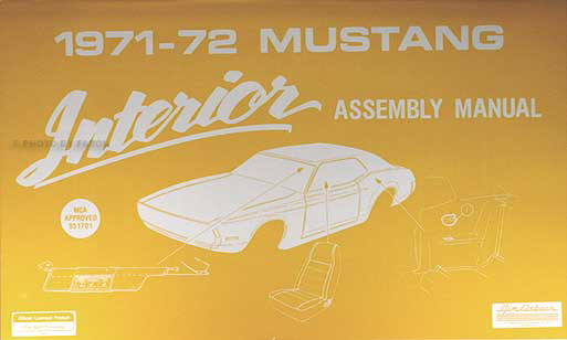 1971-1972 Ford Mustang Interior Assembly Manual Reprint