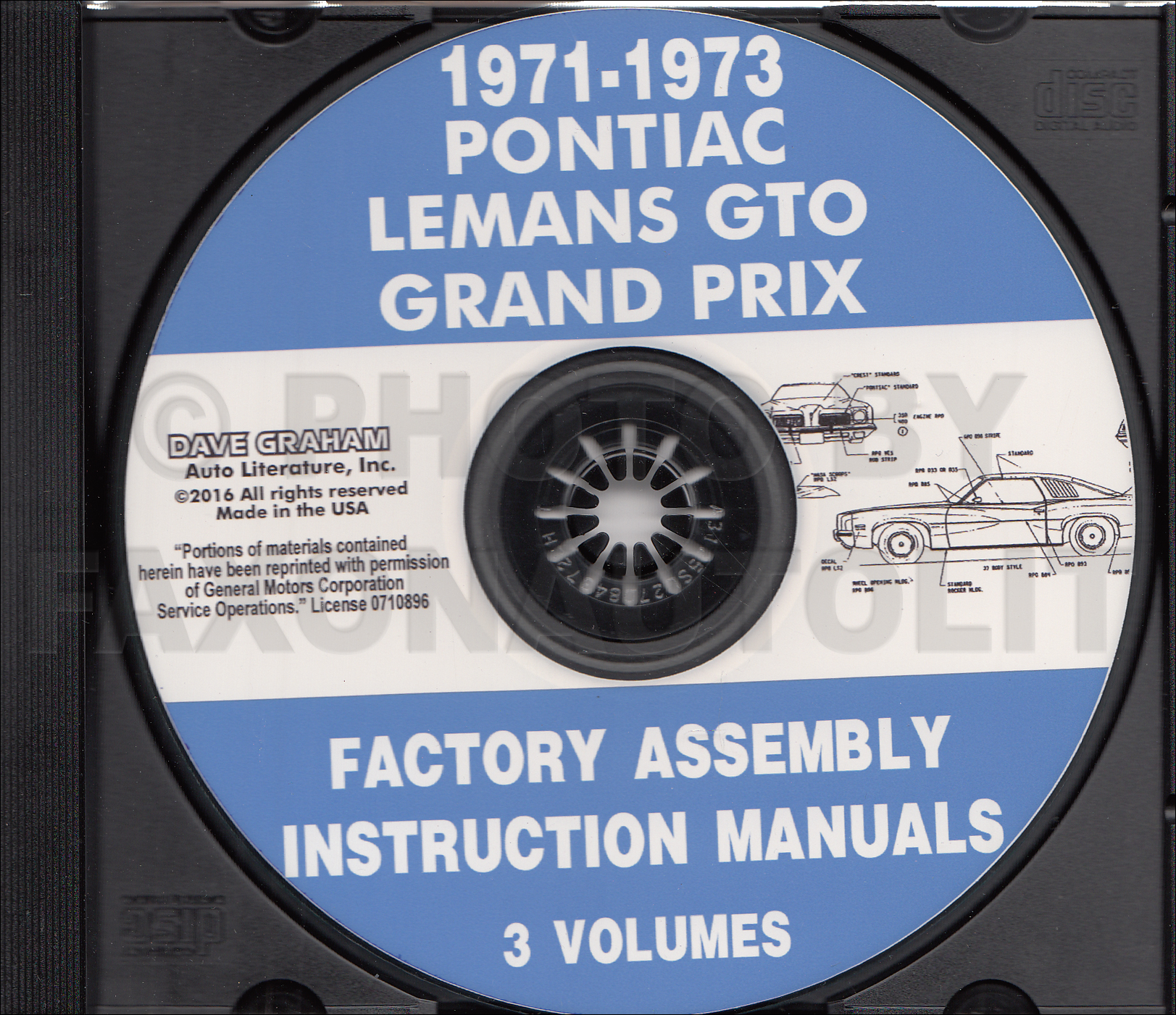 CD-ROM 1971-1973 Pontiac Assembly Manual GTO Grand Prix Am LeMans