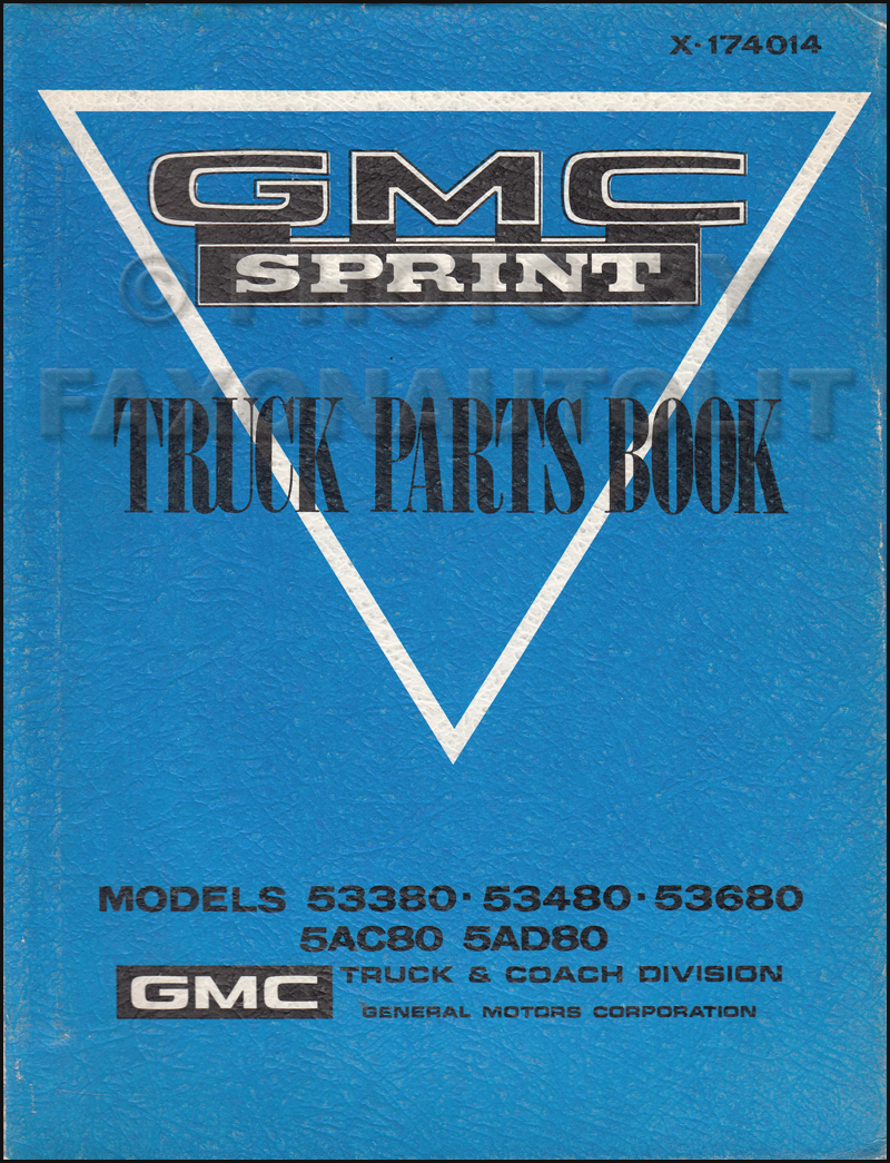 1971-1974 GMC Sprint Parts Book Original